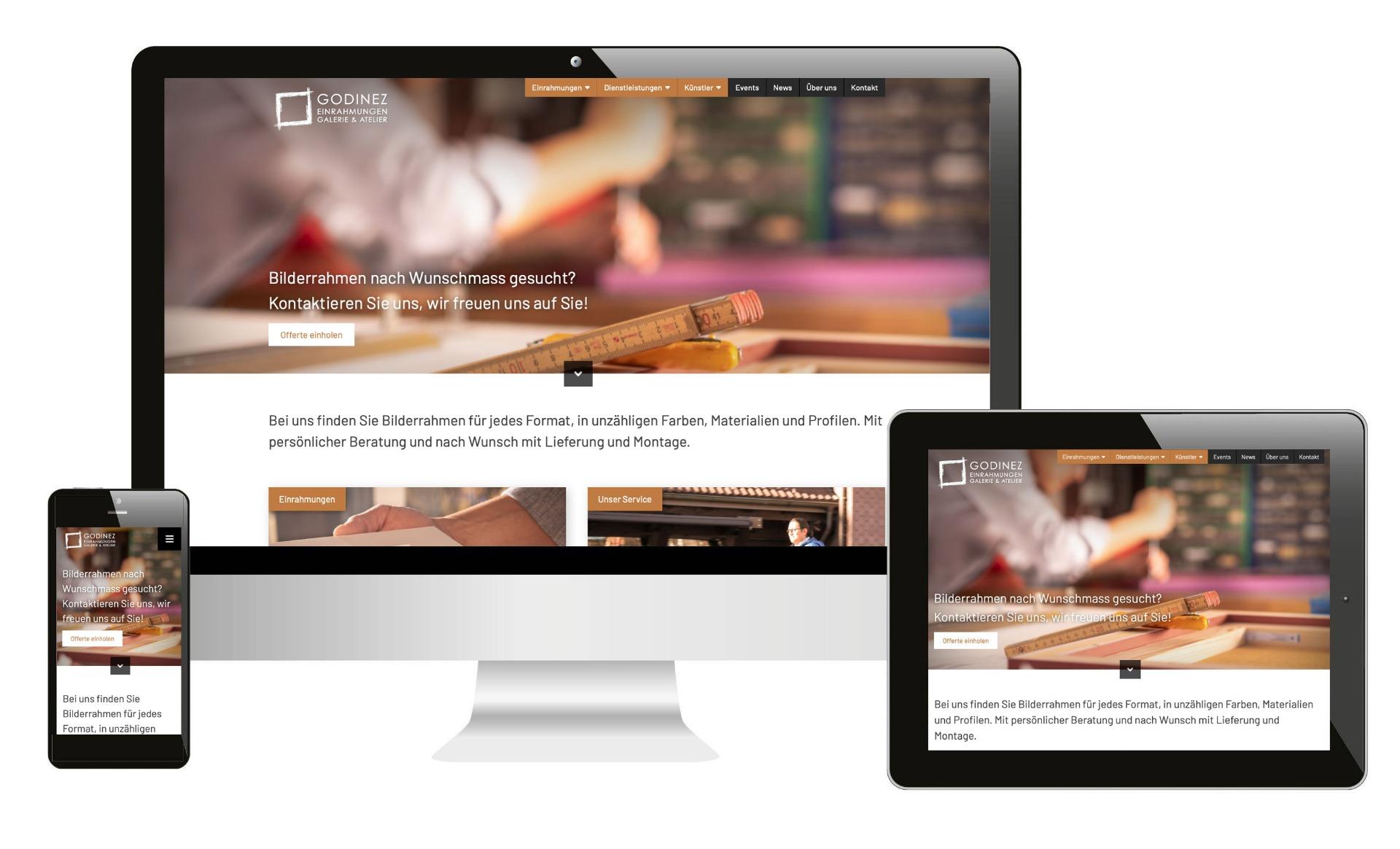 Neue Website: Einrahmungen Godinez im neuen Kleid